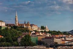Buda Side Cityscape in Budapest-Stadt lizenzfreies stockfoto