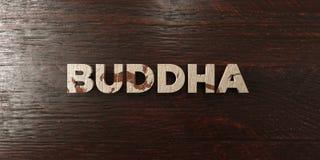Buda - título de madera sucio en arce - 3D rindió imagen común libre de los derechos Imagen de archivo libre de regalías