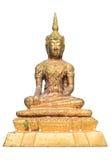 Buda tailandés de oro aisló Fotos de archivo