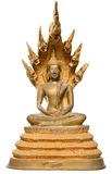 Buda tailandés de oro aisló Imagen de archivo