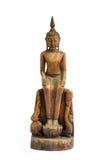 Buda talló la madera Fotografía de archivo