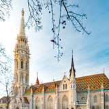 Buda temple church of Matthias. Budapest Castle District. Stock Photography