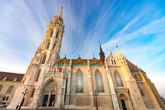 Buda temple church of Matthias. Budapest Castle District. Stock Image