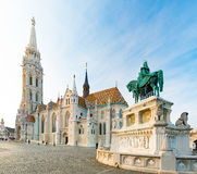 Buda temple church of Matthias. Budapest Castle District. Royalty Free Stock Photos