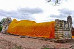 Buda vilade i Ayutthaya thailand Arkivfoton