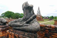Buda w Ayutthaya Tajlandia Obrazy Royalty Free