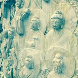Buda wall. Danang Vietnam buda Royalty Free Stock Photography