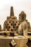 Buda y Stupa de la isla de Borobudur Java, Indonesia Fotografía de archivo