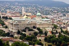 budabudapest slott hungary arkivfoton