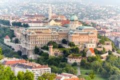 budabudapest slott hungary Arkivbild