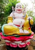 Budai colorful sculpture Stock Image