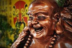 Budai eller skratta Buddhastatyn Fotografering för Bildbyråer
