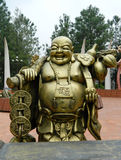 Budai gold sculpture royalty free stock photo