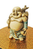 Budai Hotei netsuke. On feng shui compass Royalty Free Stock Photography