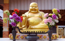 Budai statue in Buddhist temple Royalty Free Stock Photo