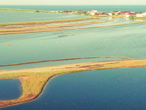 Budaki Lagoon, Shabolat. So-called «Ukrainian Mesopotamia». Stock Image