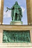 Budapest. Élément du monument millénaire Photographie stock libre de droits