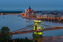 Budapest Łańcuszkowy most Obraz Stock