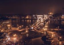 Budapest Łańcuszkowy most Zdjęcie Royalty Free