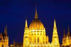 budapest Венгрия парламент ночи latvia города рождества сказ fairy захолустный скоро подобный к landmark Стоковые Изображения