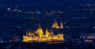 budapest строя венгерского парламента стоковые изображения rf