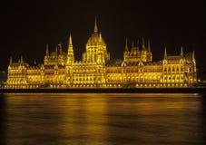 budapest строя венгерского парламента Стоковые Изображения