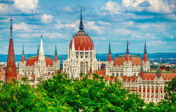 budapest строя венгерского парламента стоковое изображение rf