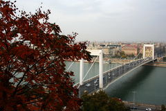Budapest. Photo about Budapest with the Erzsebet Bridge royalty free stock photos