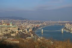 Panorama of the Budapest, landmark attraction in Hungary. Top view Stock Photos