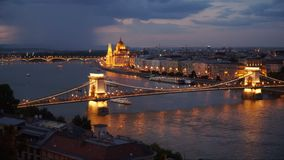 Budapest am Abend stock footage
