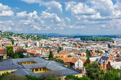 Budapest aerial view Royalty Free Stock Images