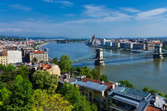 Budapest aerial view Royalty Free Stock Photography