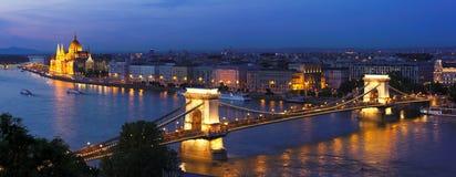 Budapest afton Royaltyfri Bild