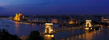 Budapest afton Arkivfoto