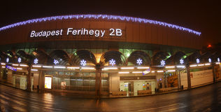 Budapest aiport Ferihegy - Christmas decoration Royalty Free Stock Photography