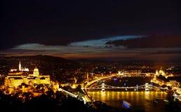 Budapest alla notte immagini stock