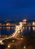 Budapest alla notte Immagini Stock Libere da Diritti