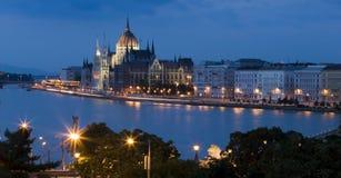 Budapest alla notte Fotografie Stock Libere da Diritti