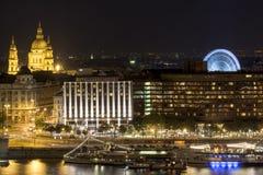 Budapest alla notte, Ungheria fotografie stock libere da diritti