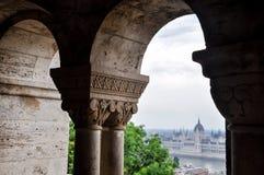 Budapest-Ansicht von der Bastion des Fischers stockbild