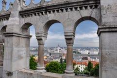 Budapest-Ansicht von der Bastion des Fischers vektor abbildung
