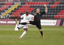 Budapest Honved gegen DVSC-TEVA OTP Bank-Liga-Fußballspiel Lizenzfreie Stockfotografie