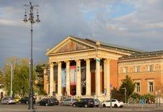 BUDAPEST - APRIL 11: Slott av konster (Kunsthalle Budapest) i B Arkivbilder