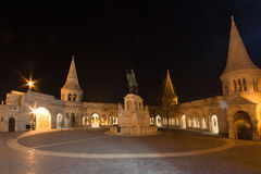 Budapest architecture at night Royalty Free Stock Photos