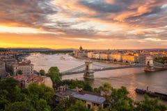 Budapest au coucher du soleil Photo libre de droits