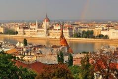 Budapest au coucher du soleil Photos stock