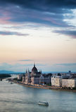 Budapest avant coucher du soleil Images libres de droits