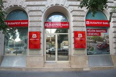 Budapest Bank Royalty Free Stock Images