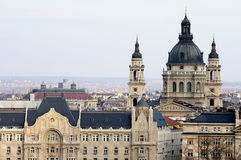 Budapest - Basilica. This is panorama of Budapest with cupola Royalty Free Stock Images