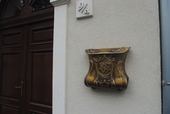 Budapest. Beautiful mail box on the wall of a house in Budapest stock images